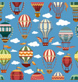 old or retro hot air transport or striped balloons vector image