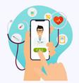online medical consultation concept flat design vector image vector image