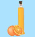 orange essential oil aromatherapy vector image vector image