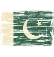 Pakistan grunge flag vector image vector image