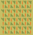 pattern with a carrot on a beige background vector image