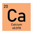 periodic table element calcium icon vector image vector image