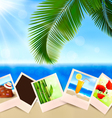 Photos from holidays on a seaside vector image vector image