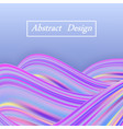 rainbow wave pastel background holographic color vector image