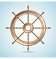 Realistic shiny captain sheep wheel vector image