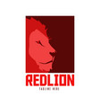 red lion logo vector image vector image