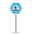 Road Sign Pedestrian Crossing vector image vector image