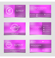 Set of business cards for wine vector image vector image