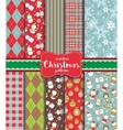 Set of Christmas seamless backgrounds vector image