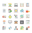 set of startup and new business flat icons vector image vector image
