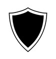 shield sign vector image vector image