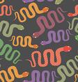 Snake seamless pattern background of desert vector image