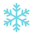 snowflake flat icon new year and christmass 10 vector image vector image