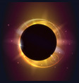 solar eclipse astronomical phenomenon - full sun vector image vector image