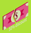 special offer sale tag isolated discount offer vector image vector image