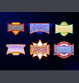 sport emblem typography set super star hero vector image