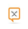 square orange speech bubble with pirate icon vector image