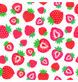 strawberry background painted pattern vector image vector image