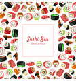 sushi bar banner template japanese seafood vector image vector image