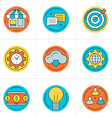 Thin Line Icon Set Flat Style Icons for Website vector image vector image