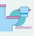 toilet and toilet paper interior bathroom vector image vector image
