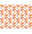 Traffic cones seamless background vector image vector image