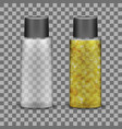 transparent plastic bottle for liquid cosmetic vector image vector image