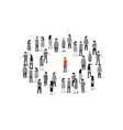 unique person in crowd concept people vector image