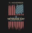 veteran day remember and honor america vector image