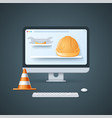 website is under construction page in 3d style vector image vector image