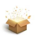 white gift box confetti explosion magic open vector image vector image