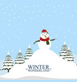 winter wonderland landscape christmas season vector image