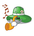 with trumpet beach hat isolated in with cartoons vector image