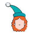 woman with sleeping hat vector image vector image