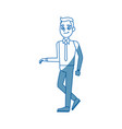 young man employee worker people staff vector image