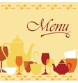 Background with dishware vector image