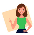 character beautiful business woman 22 vector image