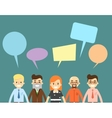 Chatting communication concept with people vector image