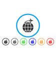 international flight rounded icon vector image