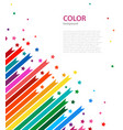 abstract colored lines and stars vector image
