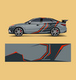 abstract racing graphic for sport car wrap design vector image vector image