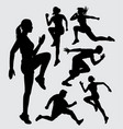athletic sport silhouette vector image vector image