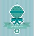 Baby Shower design maraca icon graphic vector image vector image