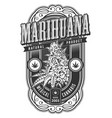 banner for legalize marijuana vector image vector image