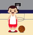 basketball court player vector image