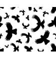 birds in flight seamless vector image vector image