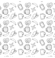 black and white oktoberfest seamless background vector image