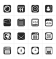 Black Mobile Phone and communication icons vector image vector image