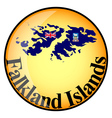 button Falkland Islands vector image
