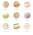 colorful planet icons vector image vector image